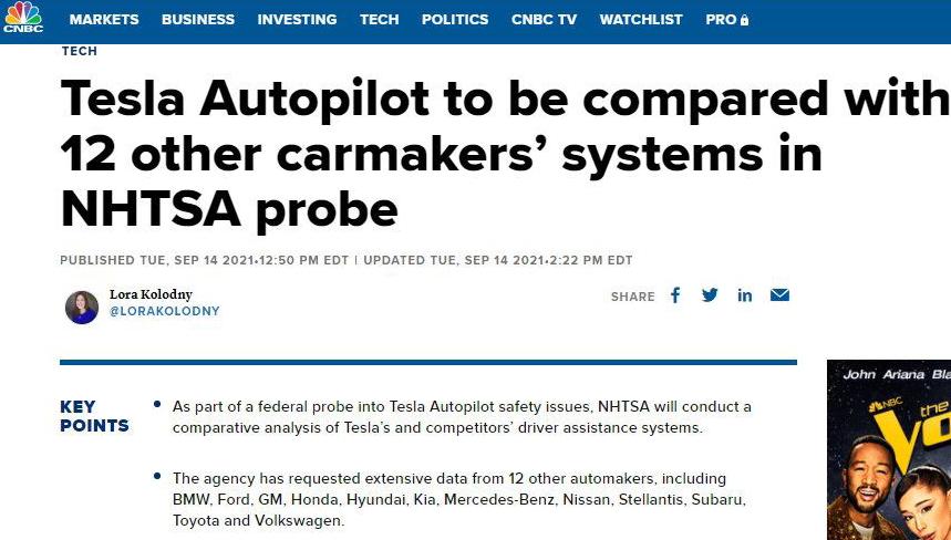 """美国监管部门:特斯拉自动驾驶""""误导、不负责任"""""""