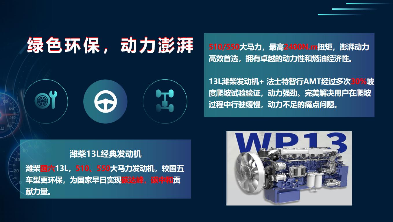 北奔V3ET国六智行版AMT牵引车静态测评