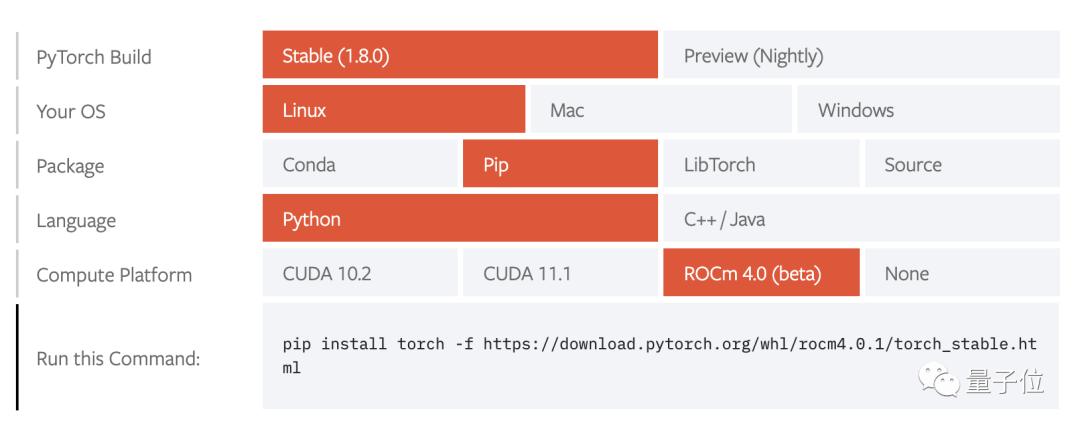 PyTorch1.8正式支持AMD,炼丹不必NVIDIA