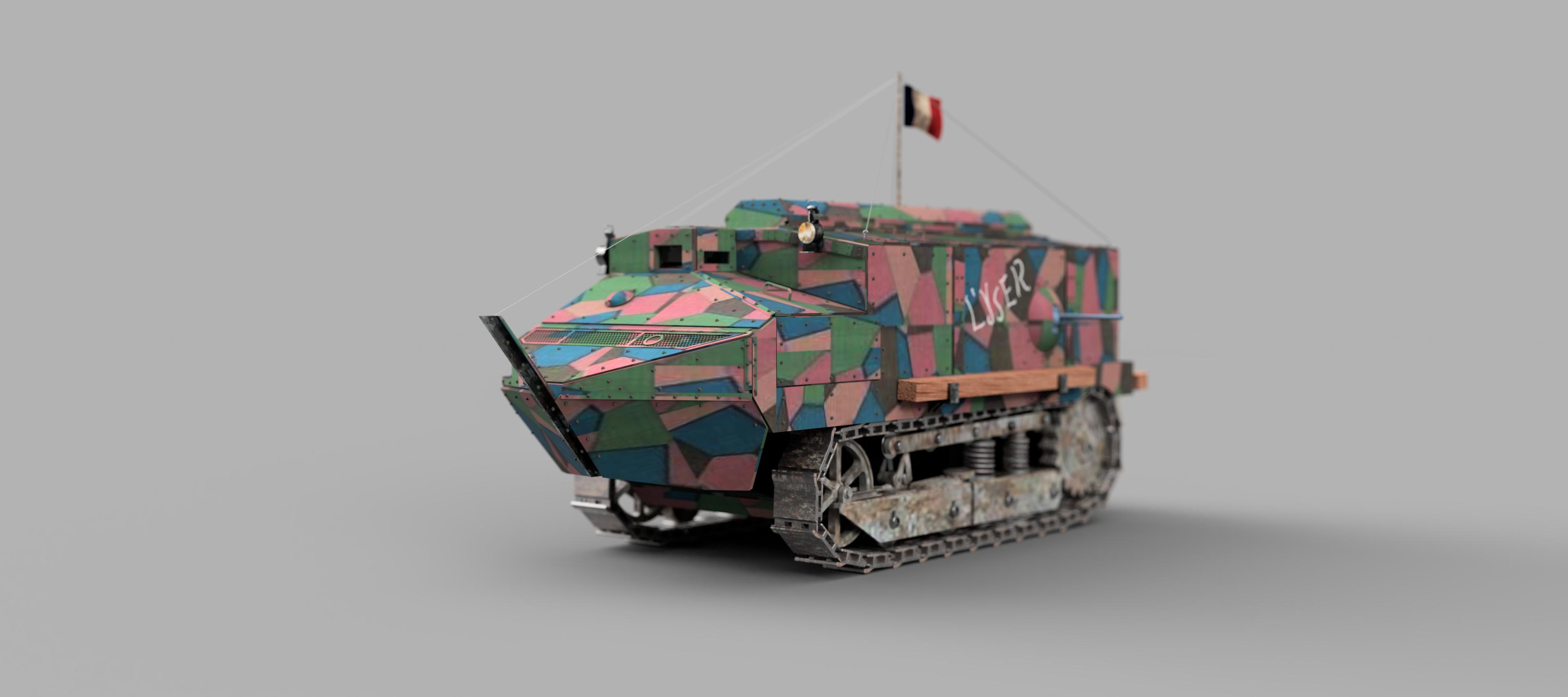 施奈德(Schneider)CA1型坦克3D数模图纸 STP格式