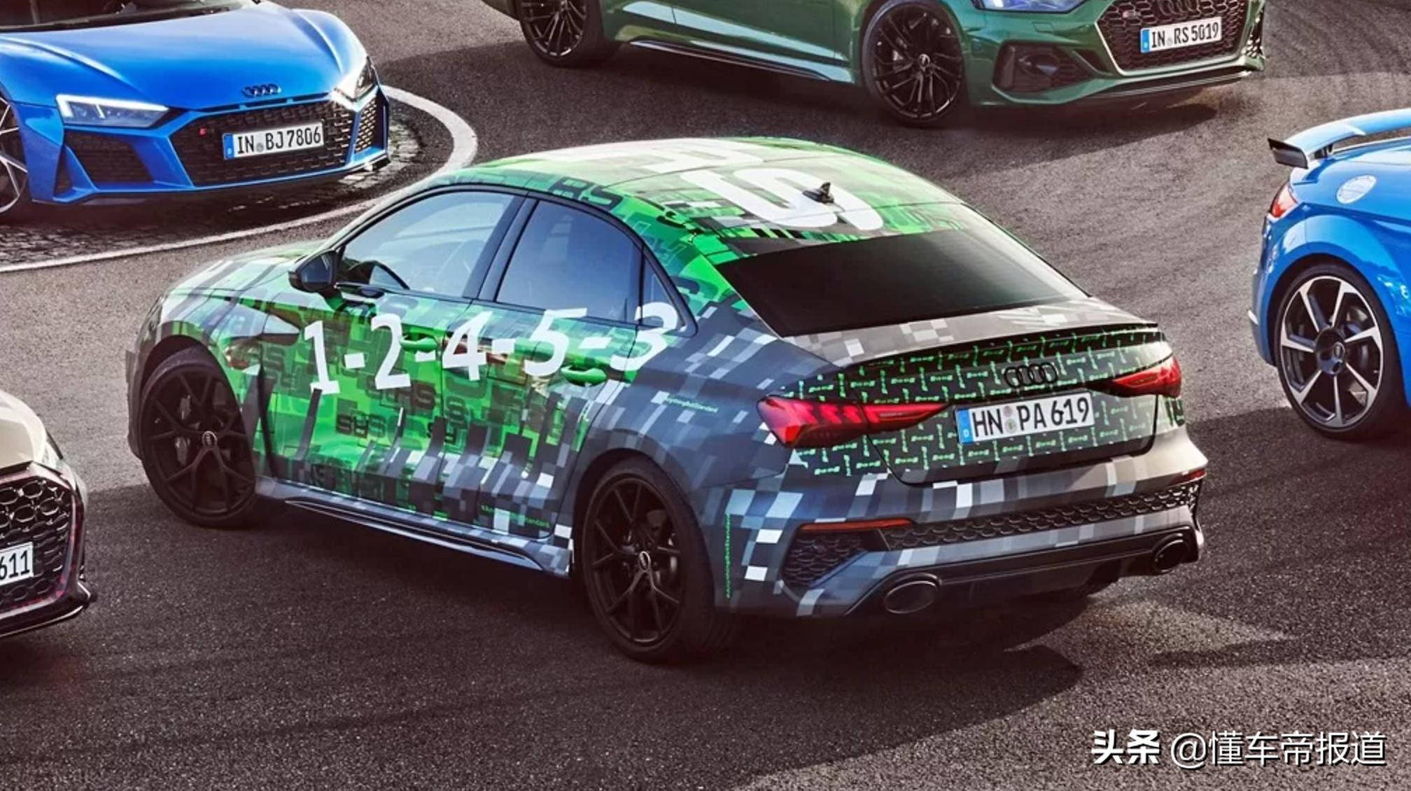 新车 | 竞争钢炮一哥?全新奥迪RS 3伪装实车曝光,五缸动力将升级