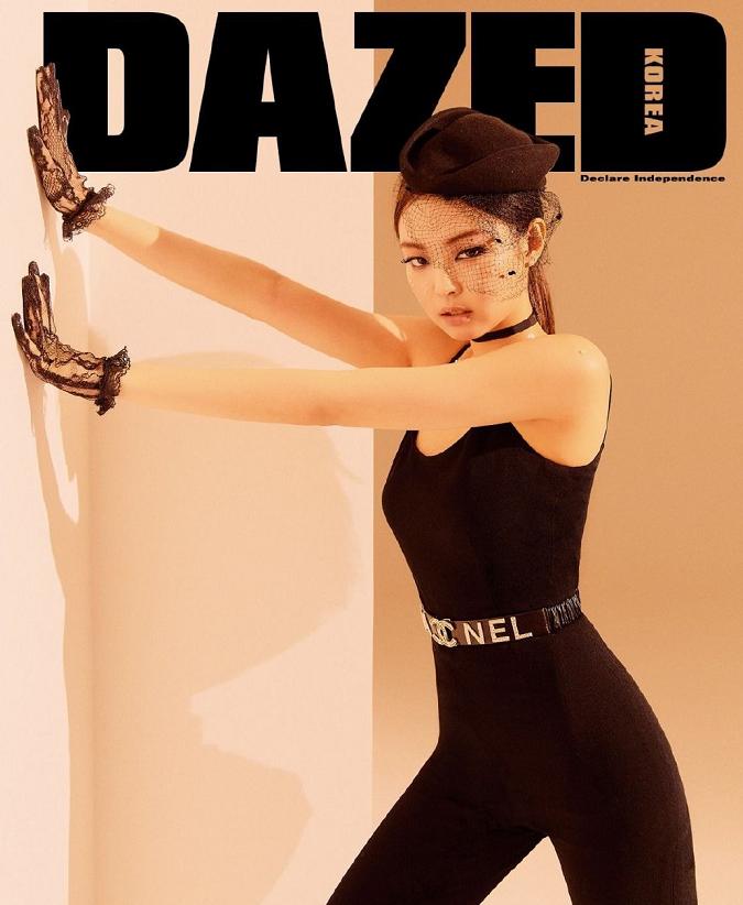 同一款雜誌粉墨不同風格,金智秀勝在顏值,jennie勝在氣質