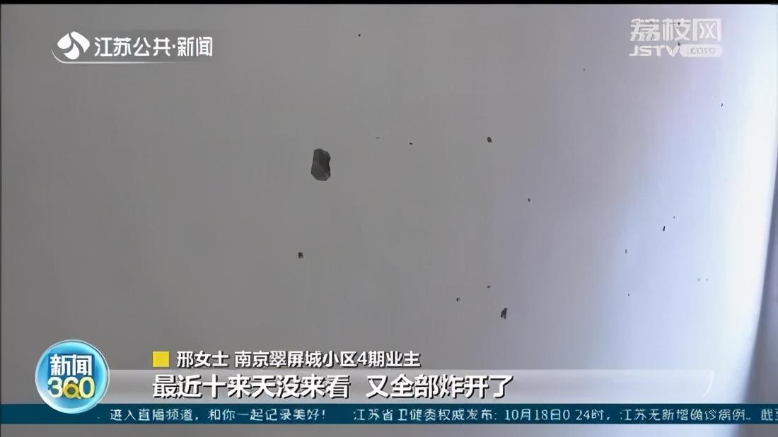 """南京新房墙面大面积""""爆""""点!报告显示砂浆有质量问题"""