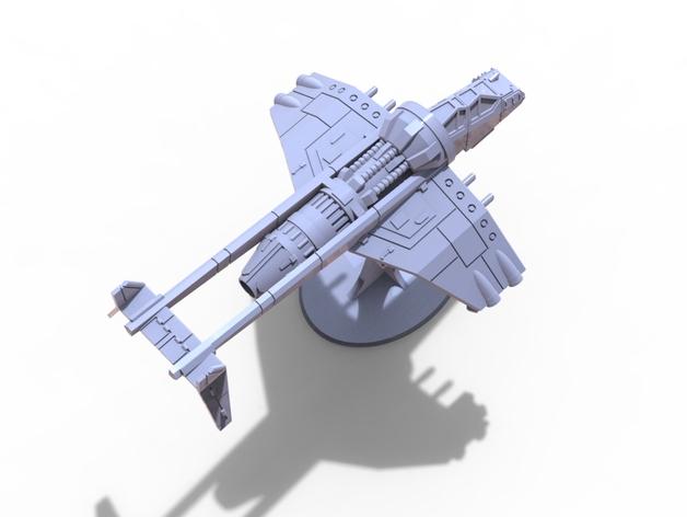 Albatross Gunship 28mm飞机造型3D打印图纸 STL格式