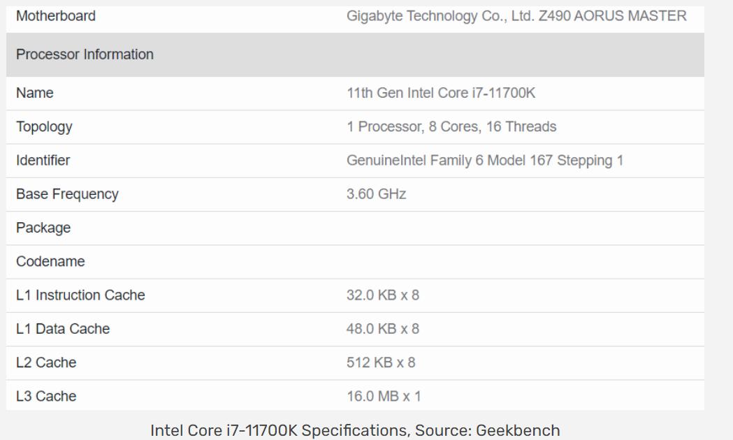 i7-11700K现身,单核超R9-5950X,英特尔翻身?