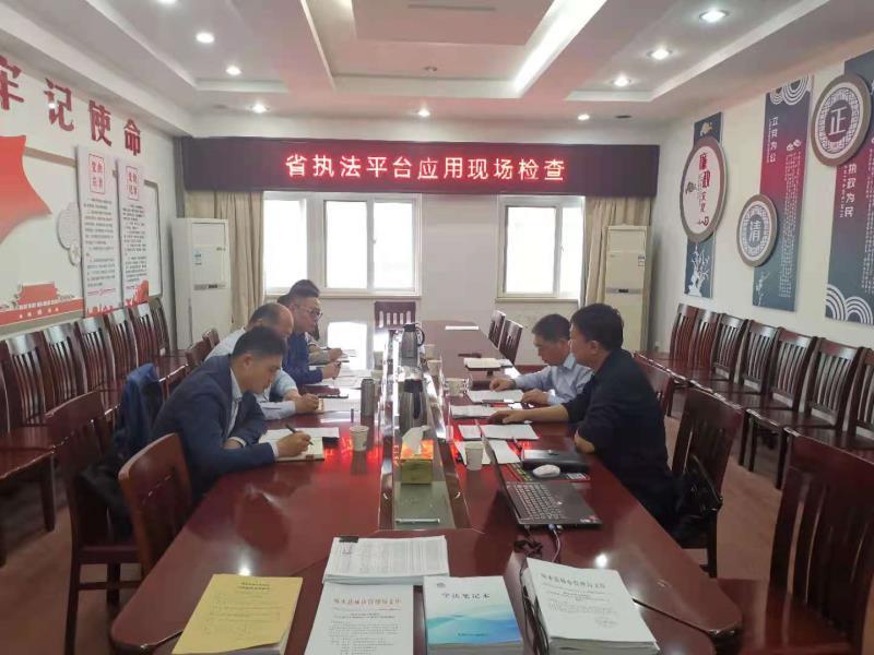 江苏盐城市城管局领导来响水开展省执法平台应用现场检查