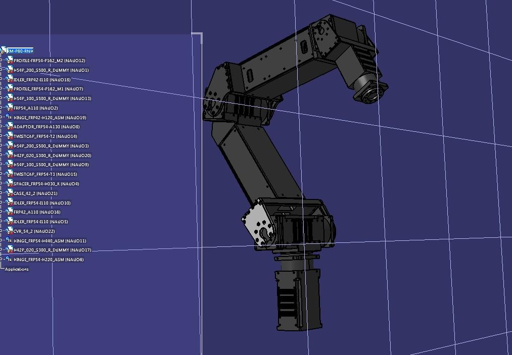 RM P60 RNH机械臂模型3D图纸 STEP格式