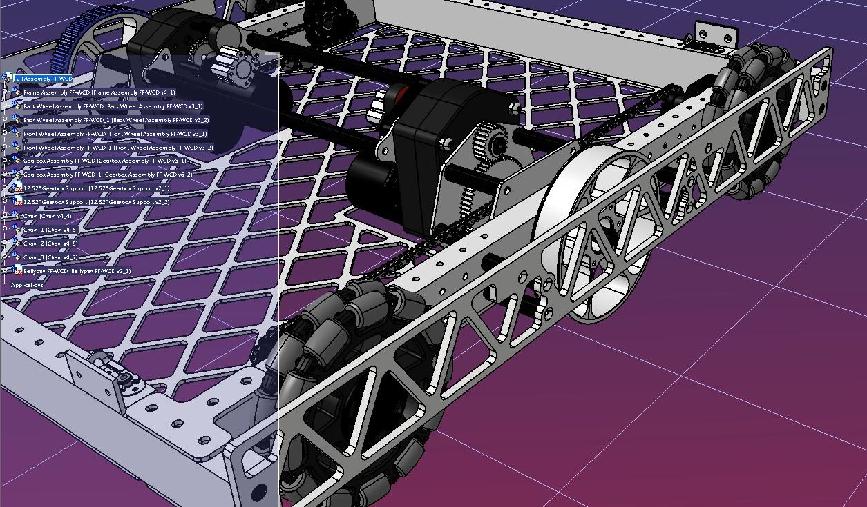 FRC 3324号万向轮机器人车底盘3D图纸 STEP格式