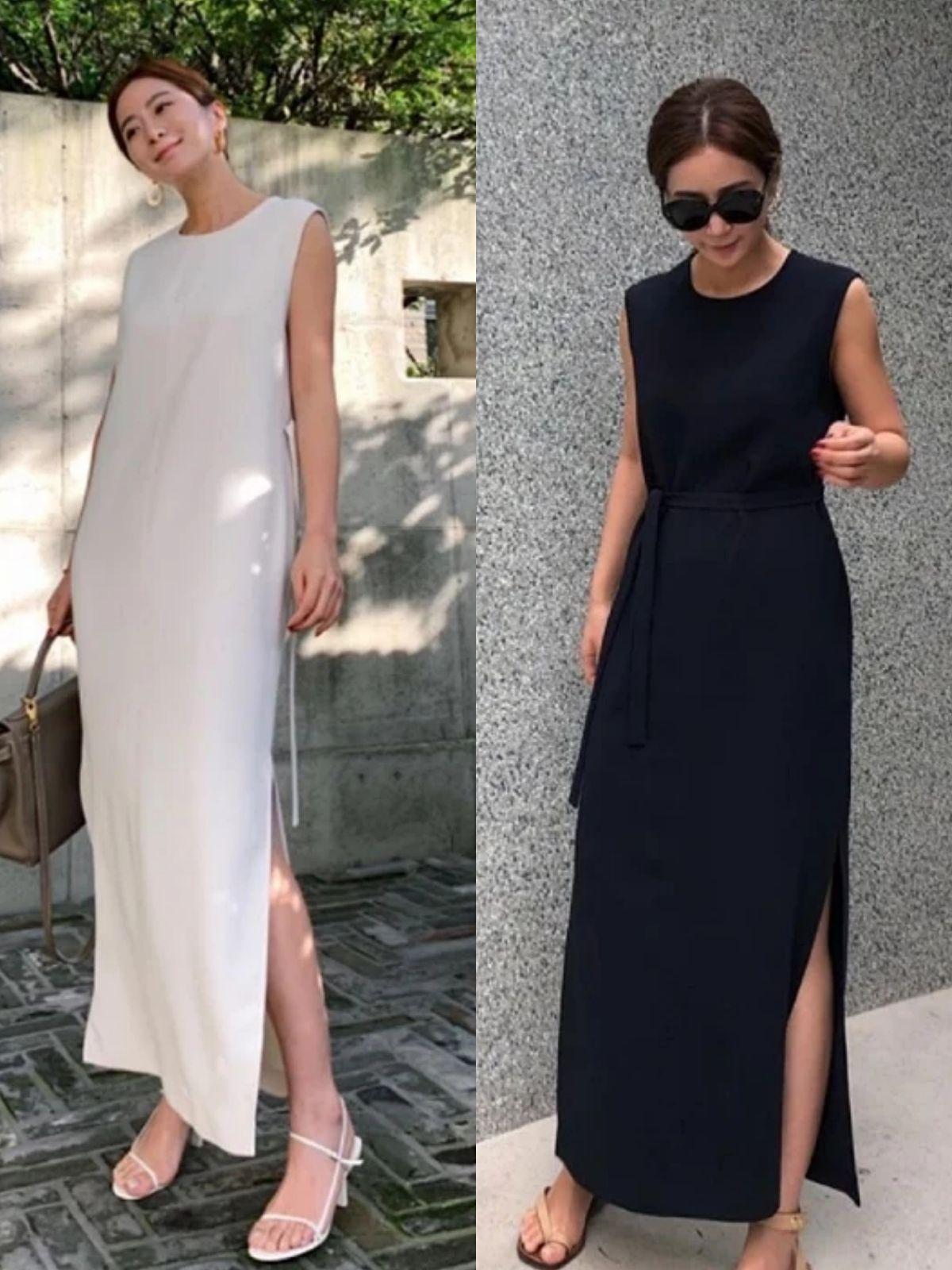 走优雅气质路线的中年女人,夏季穿衣懂得做减法,简约时尚又高级