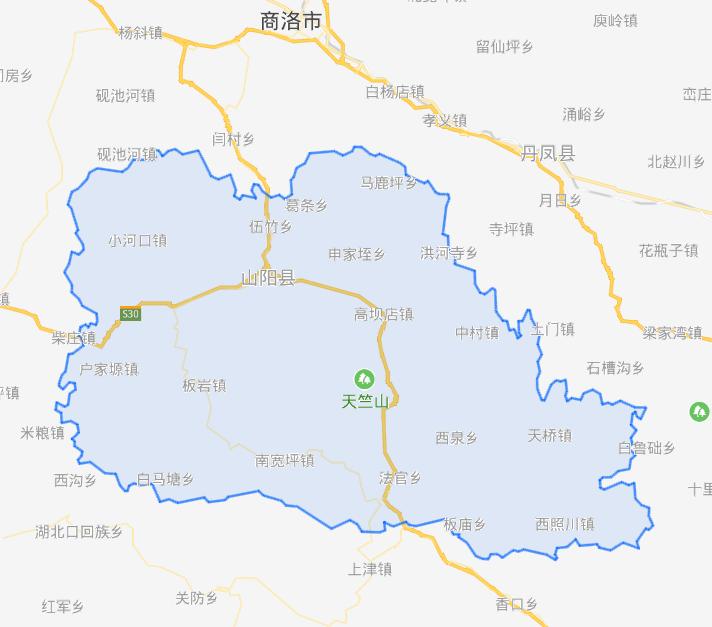 陕西省一个县和广东省一个县,名字正好倒过来!