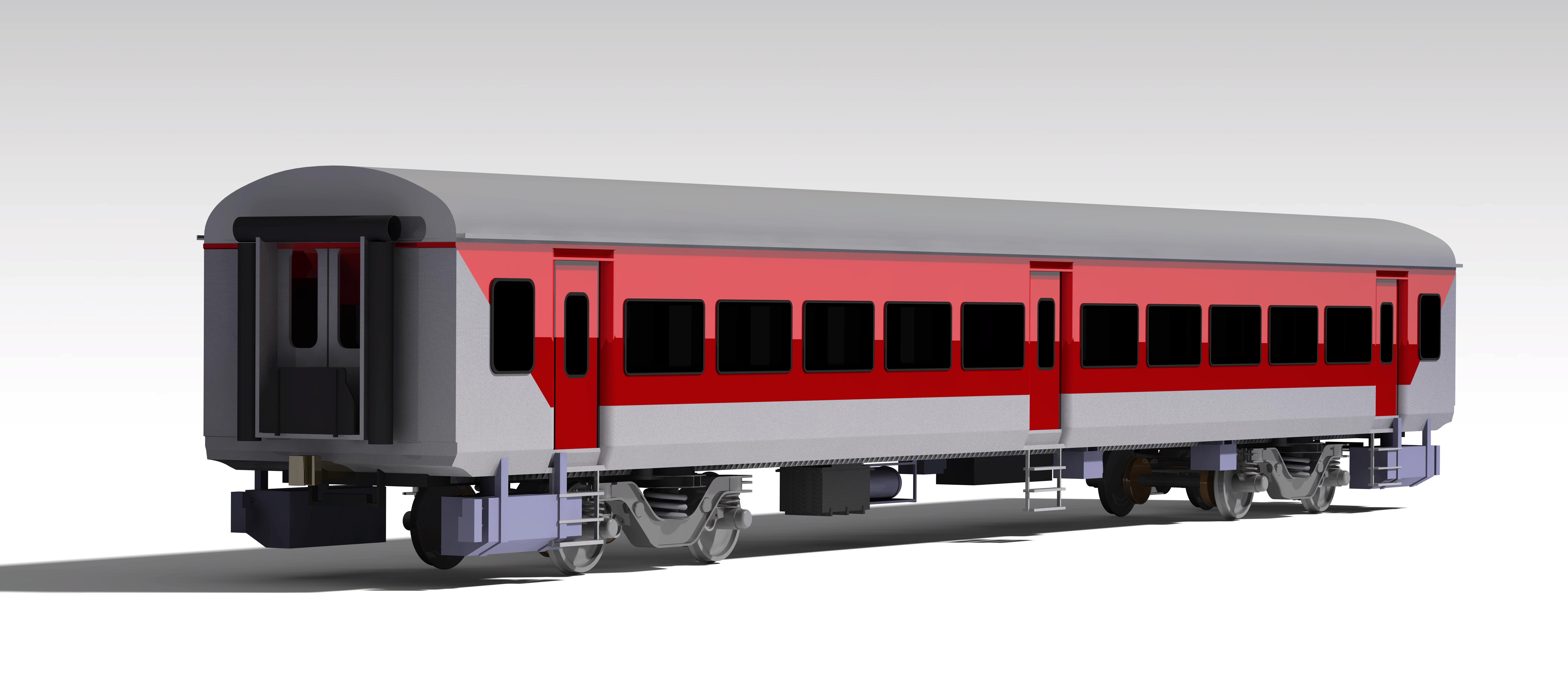 lhb coach火车机车模型3D图纸 STP格式