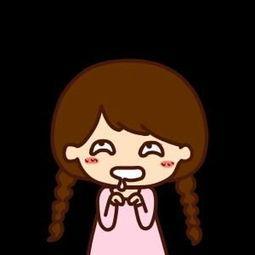 卡通小女孩流口水表情包