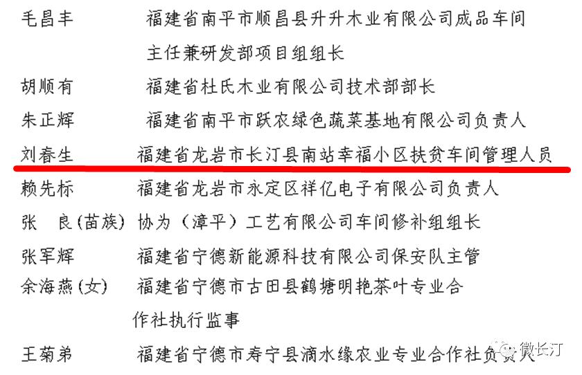点赞!长汀刘春生获评全国优秀农民工!福建这40位优秀农民工和4个集体获全国表彰
