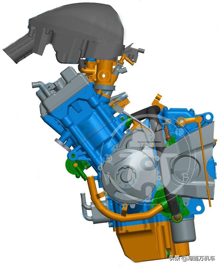 又一国产四缸摩托发动机亮相 800cc直列四缸 有点像本田