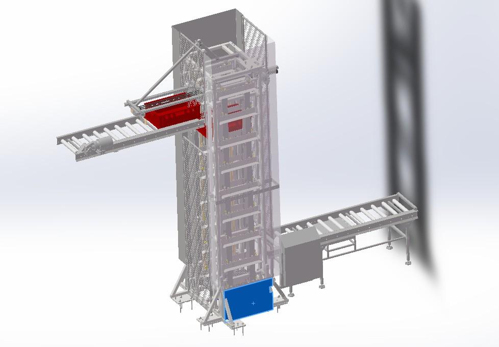 垂直转运输送机3D模型图纸 STP格式