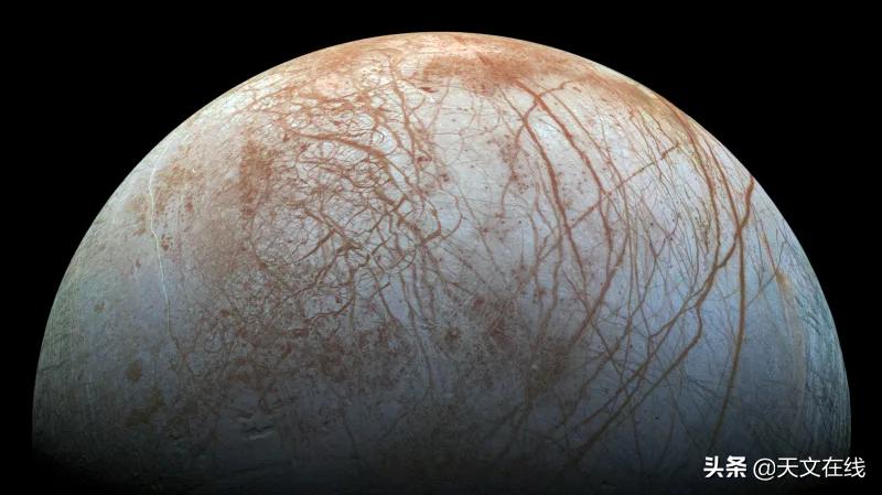 新发现!木卫二冰层下的海洋中可能富含食盐