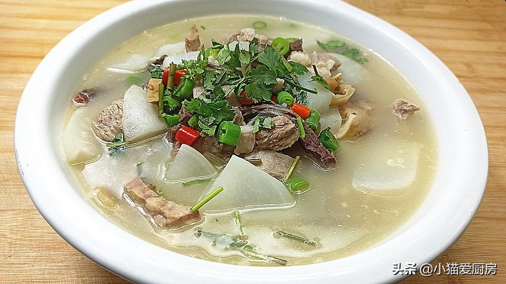 羊肉汤怎么炖才好喝?小猫教你这么做,做出来汤浓白,好喝无膻味