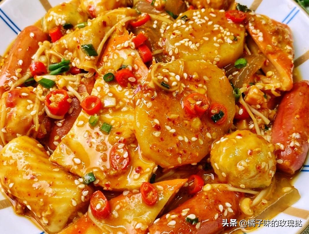超简单零失败的美食家常菜推荐:麻辣拌,孜然土豆片,蒜香蟹柳条 美食做法 第1张