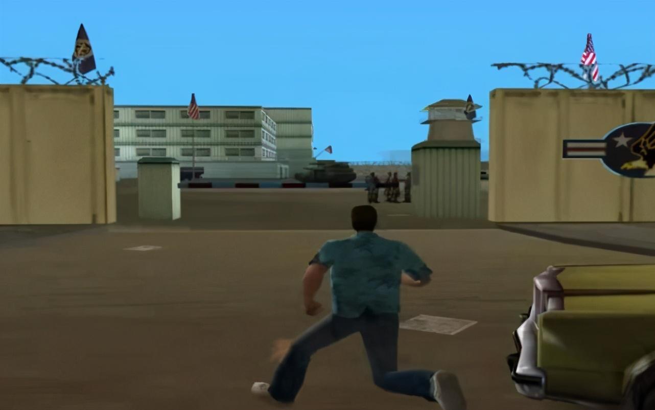 "《GTA》系列游戏""军事基地""成长历程,一代更比一代弱?"