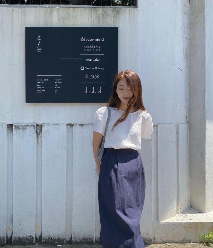 邻家女孩感十足韩系穿搭 非常温柔可爱的小姐姐风