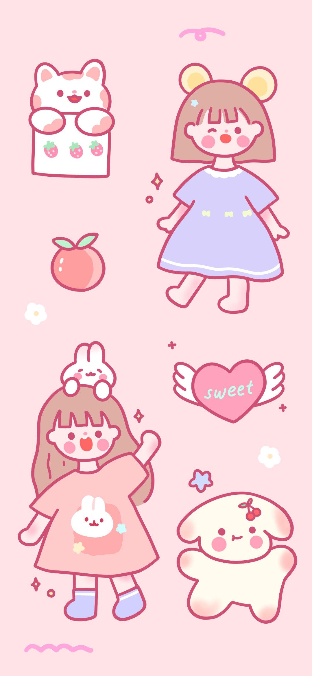 粉色背景图片(高清少女心粉色背景图)
