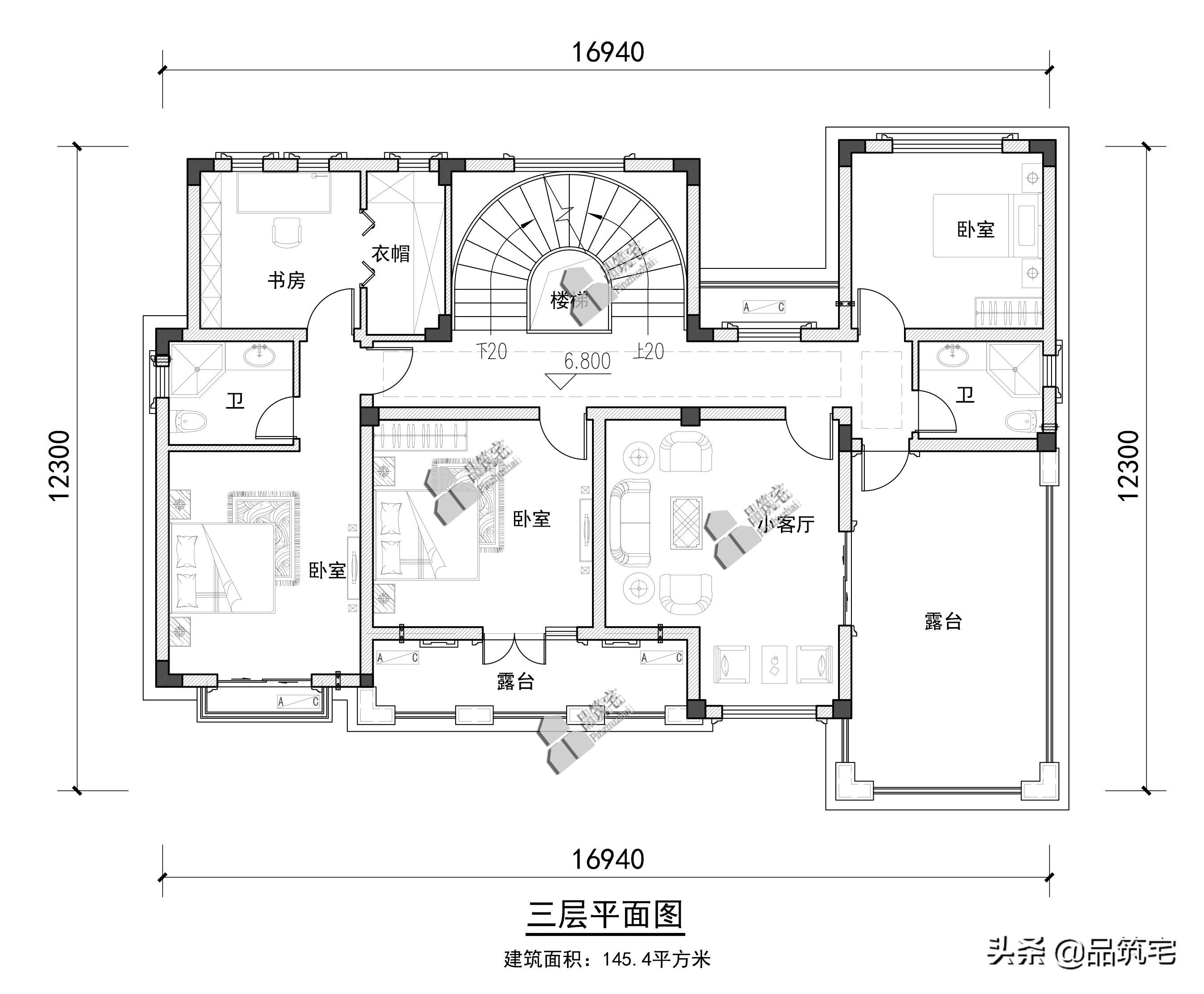 拥有超大庭院的三层新亚洲风格别院,由内而外的经典气派