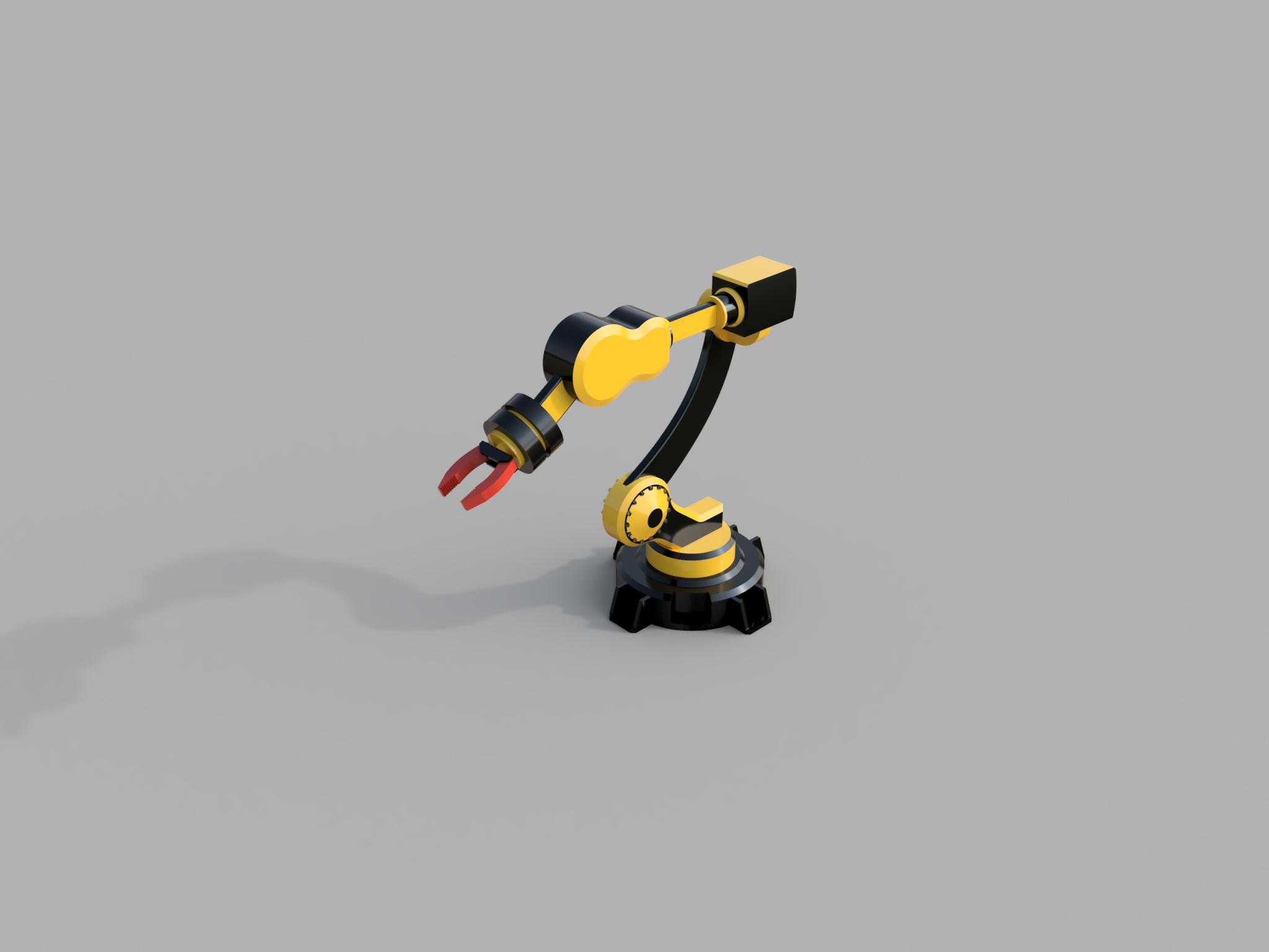 简易6轴机器人造型3D图纸 Fusion 360设计