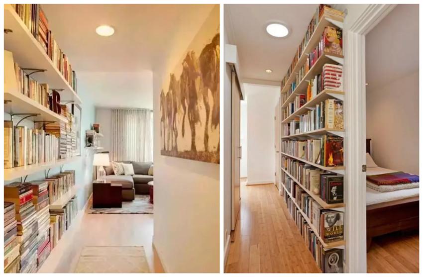 走廊过道太鸡肋?用的好,连衣帽间和书房都能有!好看又实用