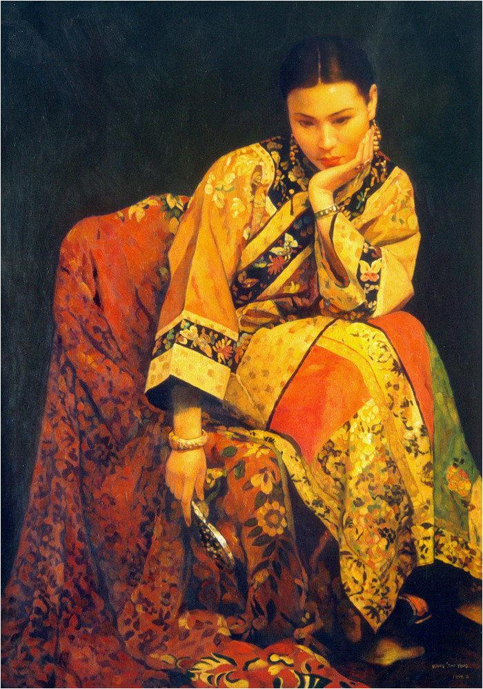华丽而平淡,繁复而素净——著名画家「王俊英」油画作品欣赏