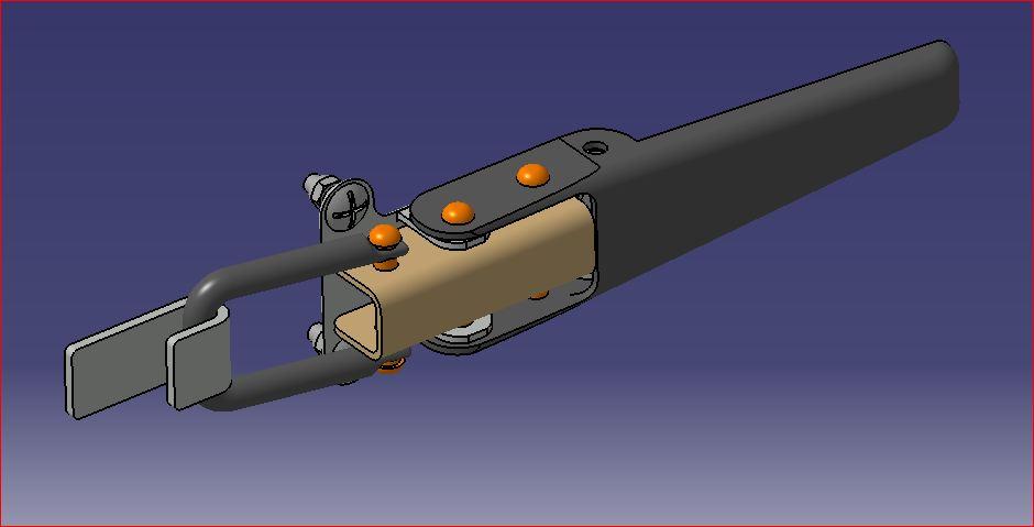 side hinge侧铰链3D数模图纸 STEP IGS格式