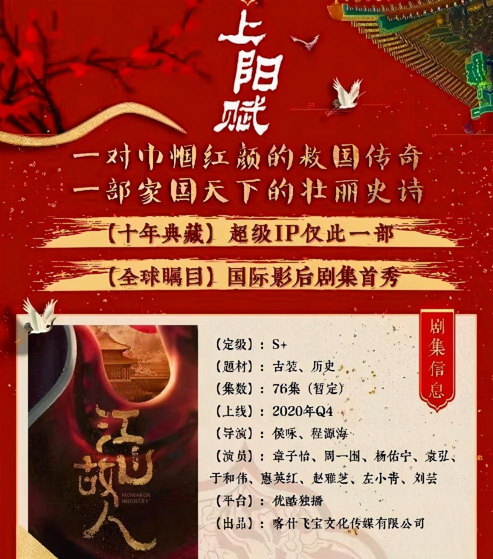 76集古装大剧《上阳赋》将播,章子怡主演,赵雅芝也强势加盟