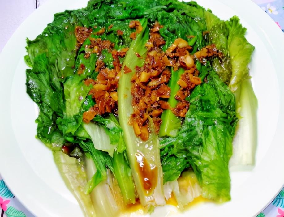 蒜蓉生菜的做法步骤图 夏天记得吃