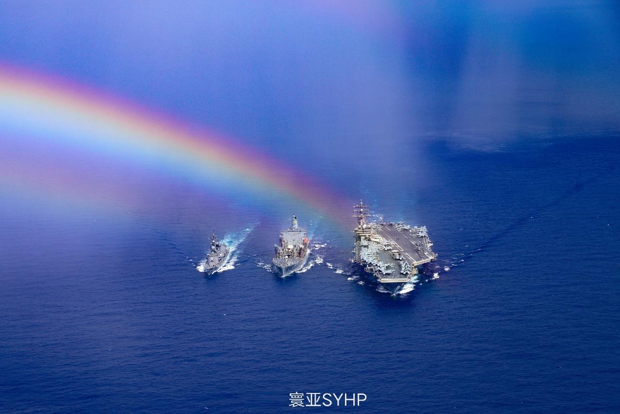 疫情越重、軍演越狠?美日三艘巨艦闖蕩西太平洋,釋放戰備信號