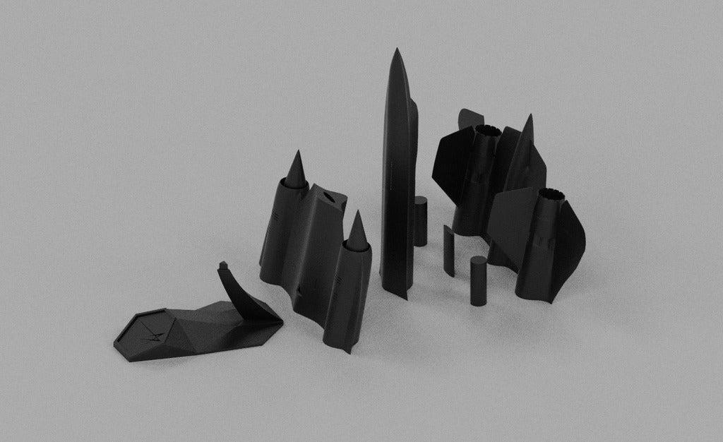 Lockheed SR-71A侦察机简易模型3D打印图纸 STL格式