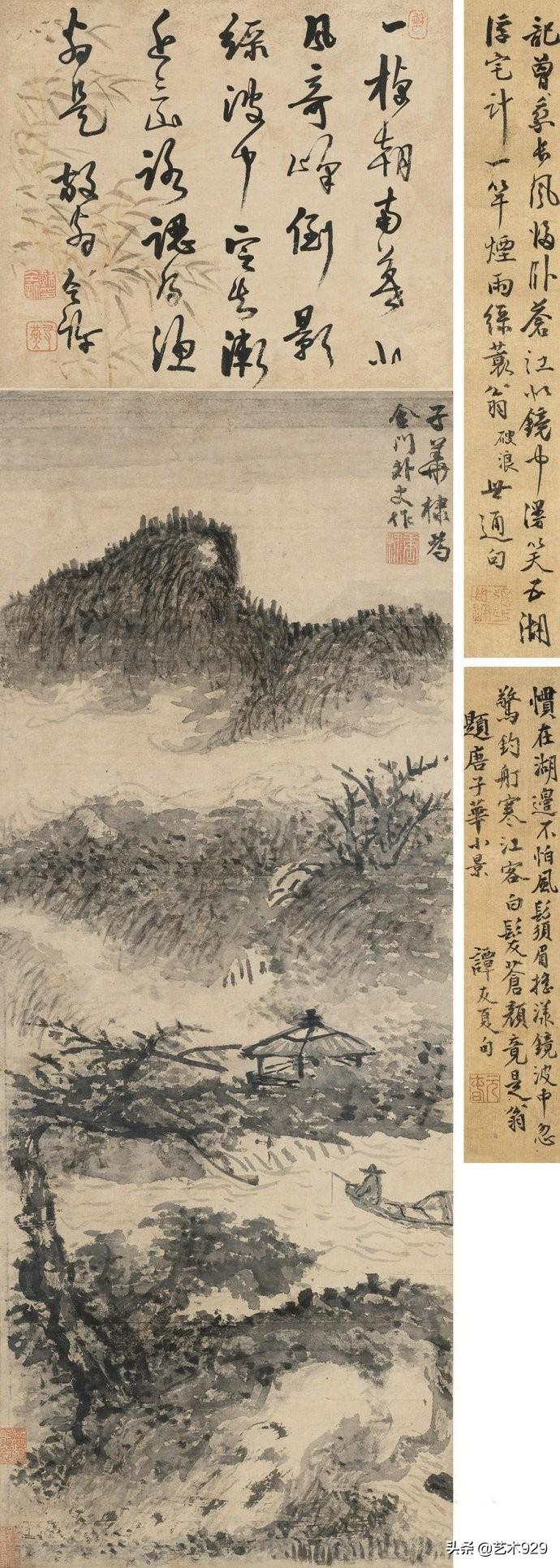 元代画家唐棣山水画赏析