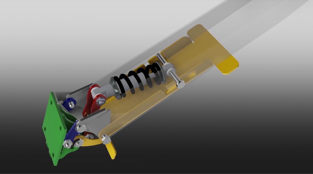 stabilizerleg弹簧铰链3D数模图纸 STP格式