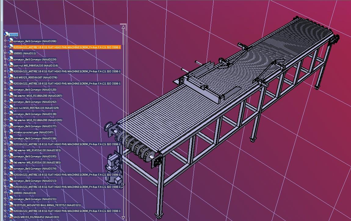 500004输送线3D数模图纸 STEP格式