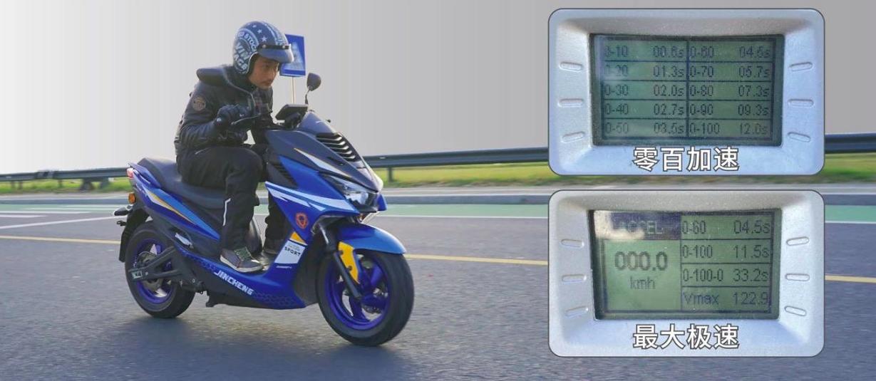 时速可达122km/h,配4000W中置电机,金城高速电摩评测