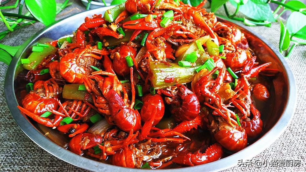 教你麻辣小龙虾的家常做法 制作简单 鲜香美味 一大盘不够吃