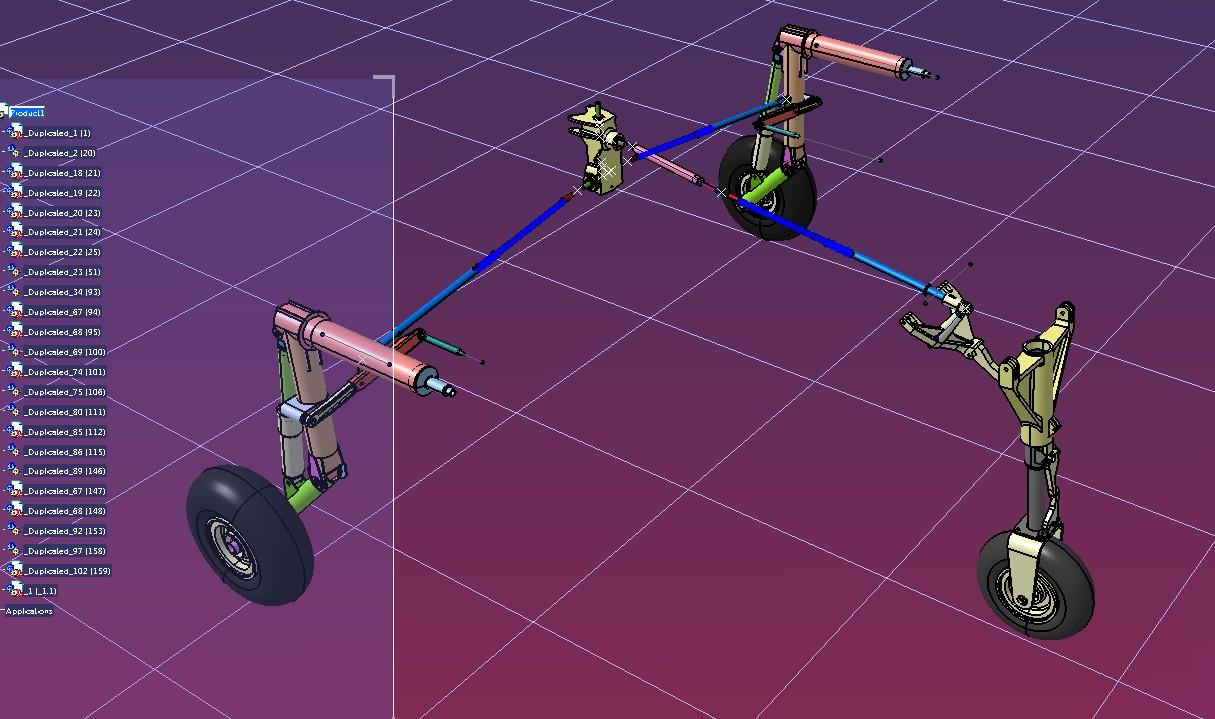 Falco F8飞机起落架结构3D图纸 STP格式