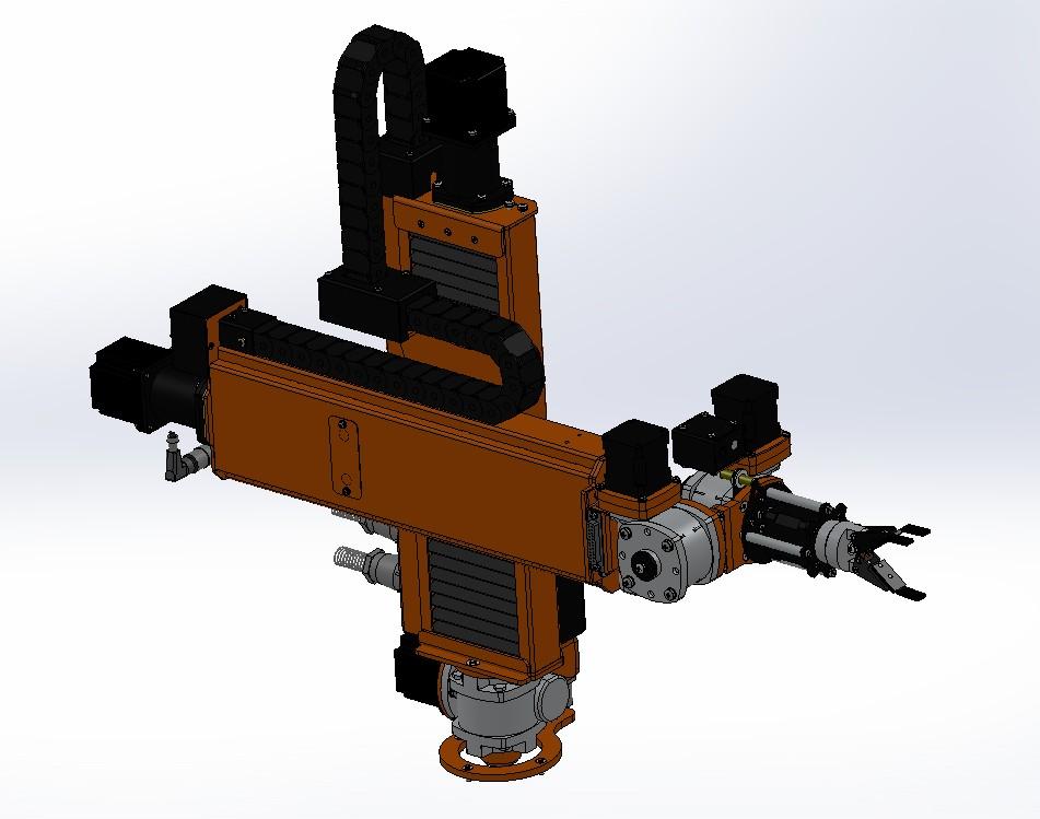 OMEGA 五轴机械臂机器人3D数图纸 Solidworks设计