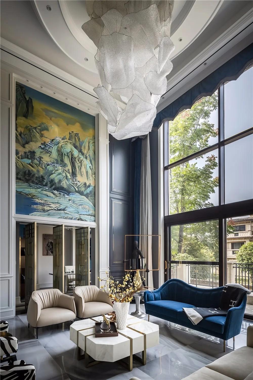 800㎡別墅設計,一入戶就深深吸引了我,輕奢美才是國際范
