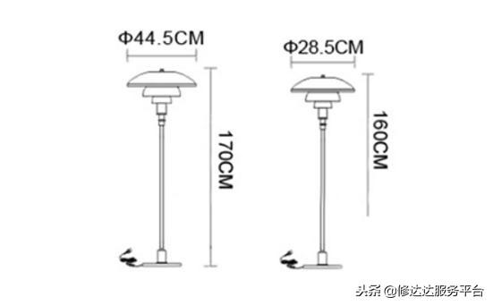 落地燈尺寸怎么選