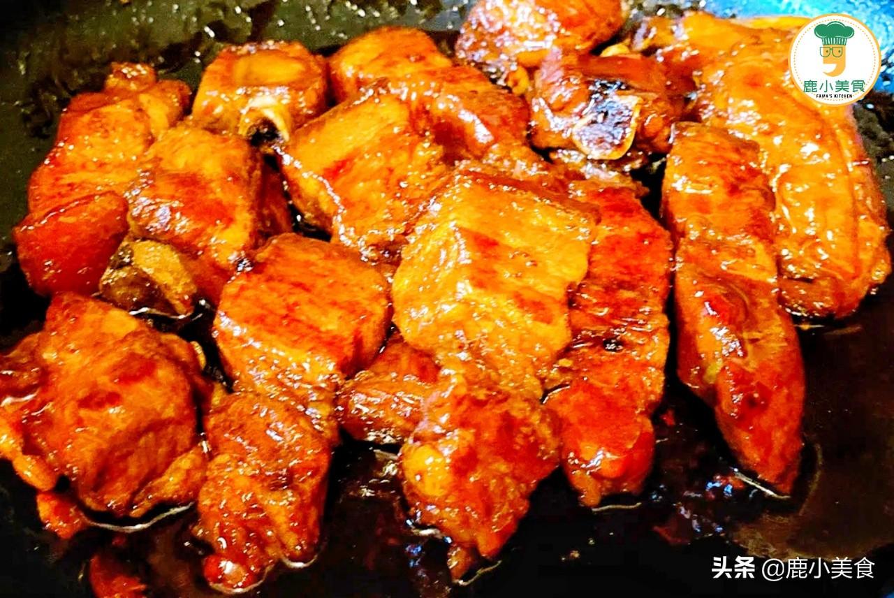 """年夜飯,寓意""""鴻運當頭""""的紅燒肉,不焯水做法,肉嫩醬濃不肥膩"""