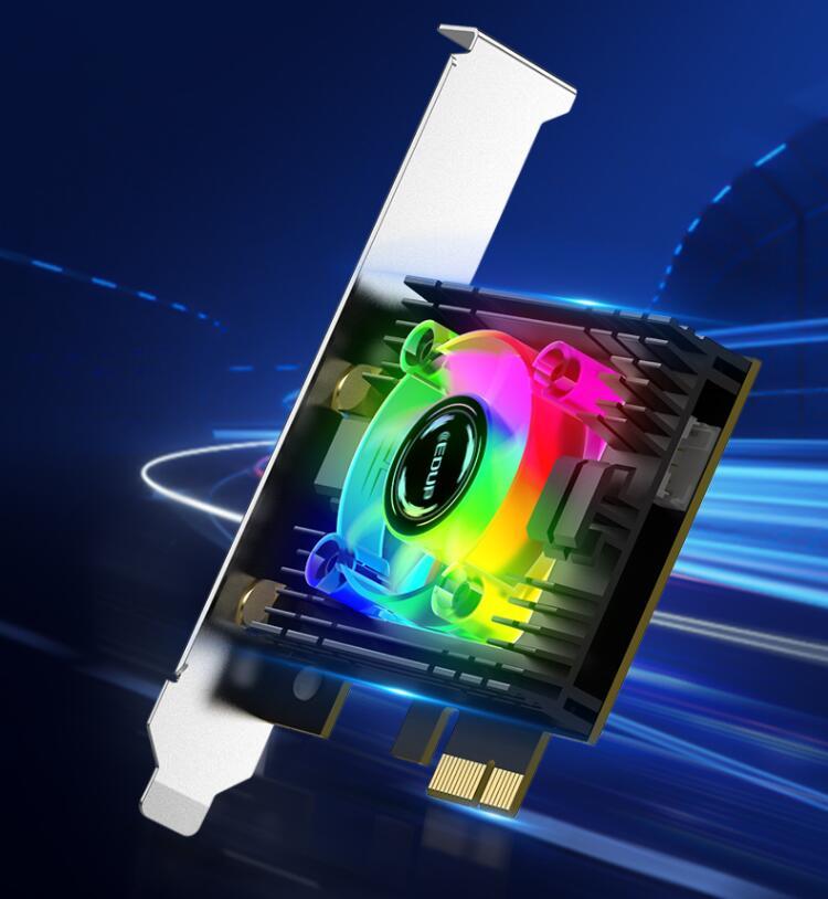 使用RGB光效WiFi6无线网卡是怎样的上网体验?翼联EDUP入手要趁早