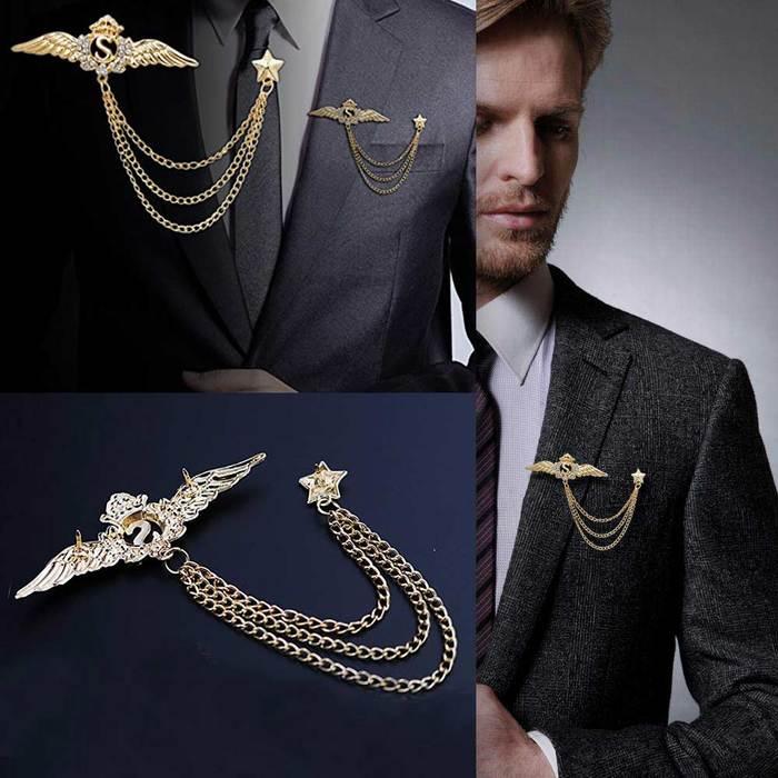 胸针!今年时尚男士最应该拥有的饰品!男士流行饰品推荐