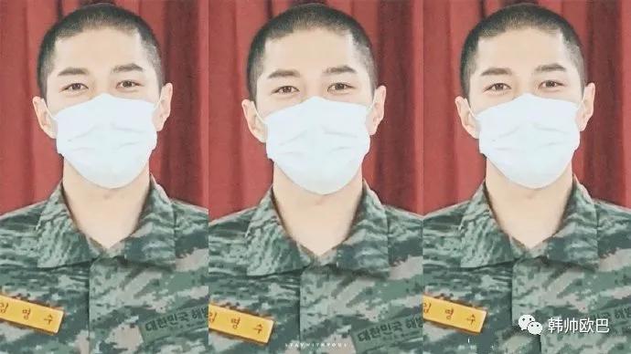 当训练兵的这位男团爱豆,戴着口罩也无法遮挡的帅气啊