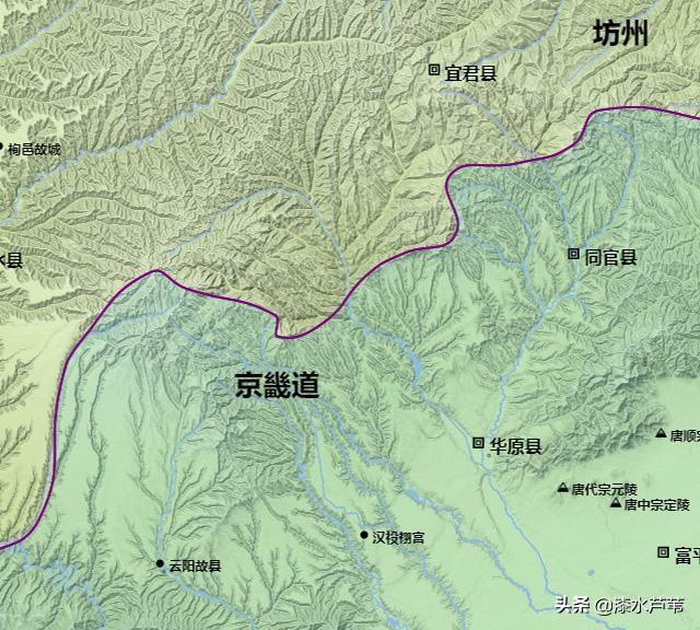 唐朝行政区划地图——京兆府