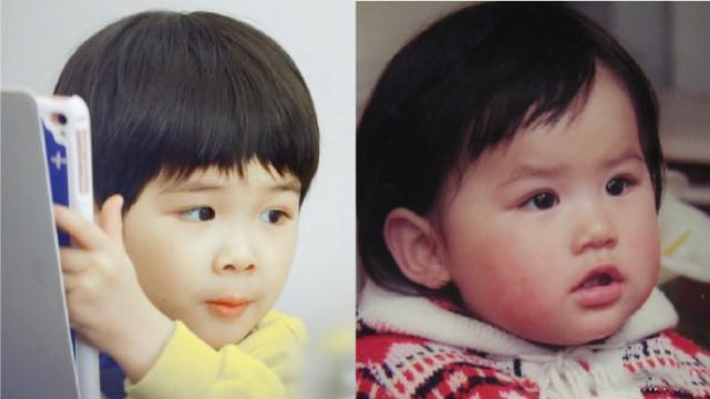 黃聖依倆兒子近照曝光,安迪長大了,安麟和媽媽小時候一模一樣