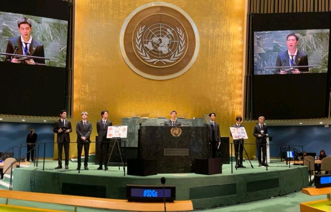 防弹少年团联合国演讲,鼓励全世界打疫苗:伤心委屈我们不怕变化